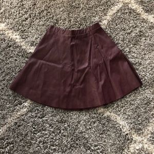 Faux Leather Maroon Skirt